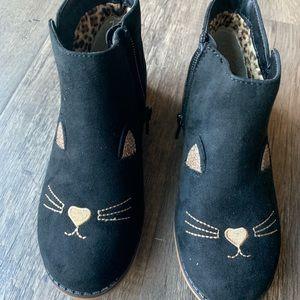 Black Cat Boots (Children's Size 12)